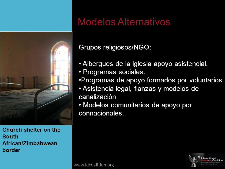www.idcoalition.org Grupos religiosos/NGO: Albergues de la iglesia apoyo asistencial.