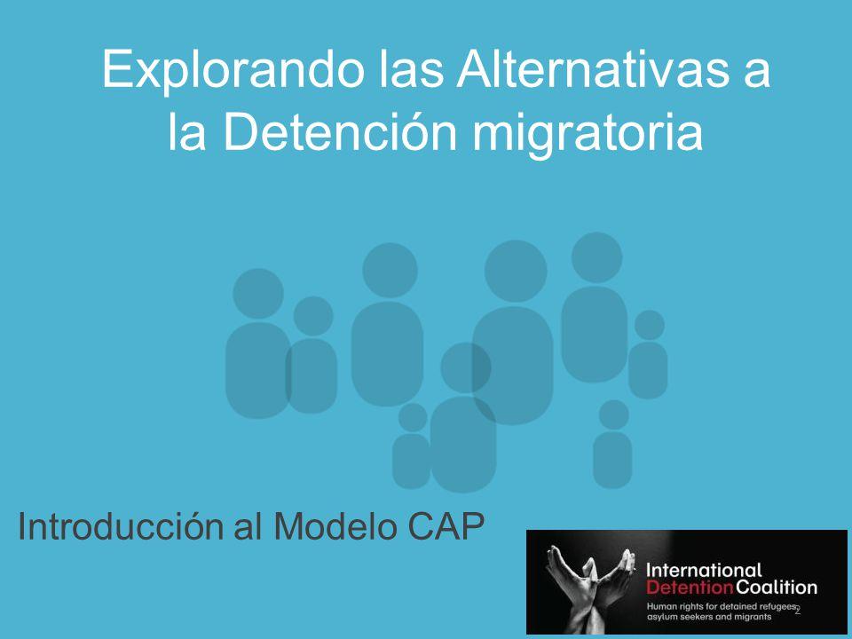 www.idcoalition.org El Modelo CAP Dos elementos esenciales identificados: 1)Mecanismos que previenen la detención migratoria.