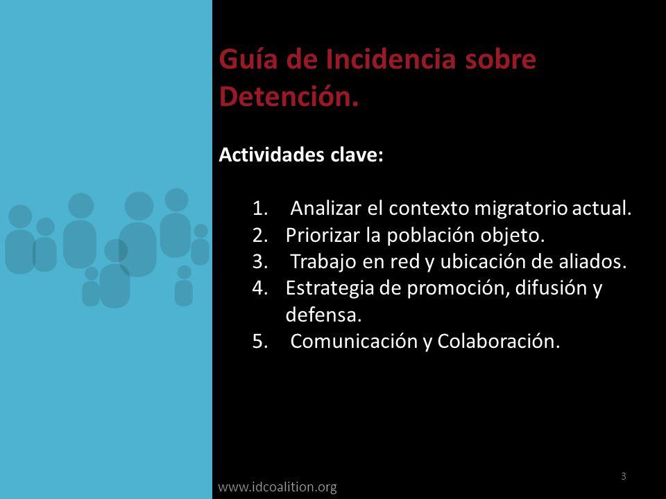www.idcoalition.org Guía de Incidencia sobre Detención.
