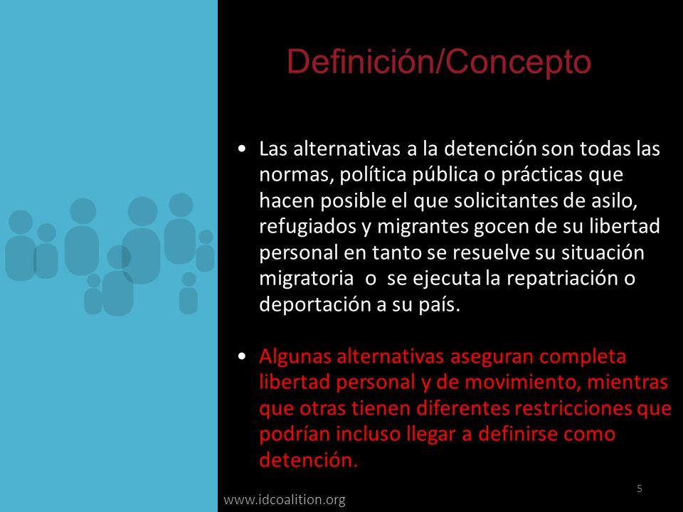 www.idcoalition.org Examinar y Evaluación Los países estan más capacitados para hacer decisiones informados sobre la necesidad de detener, no detener o la posibilidad de dar libertad condicional, así como de las circunstancias bajo las cuales es procedente.