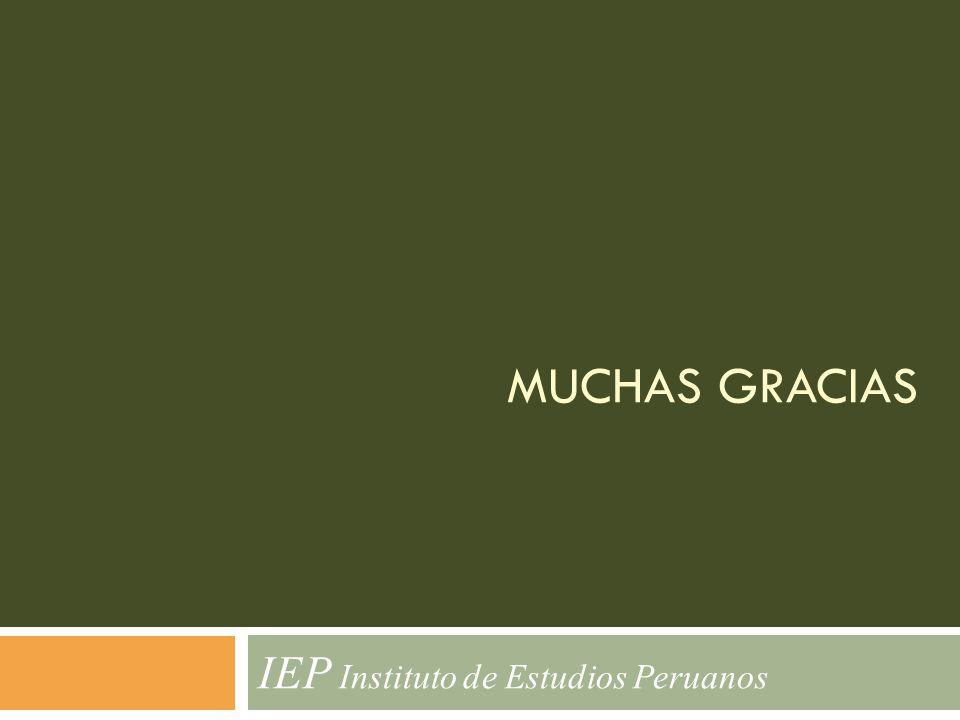 MUCHAS GRACIAS IEP Instituto de Estudios Peruanos