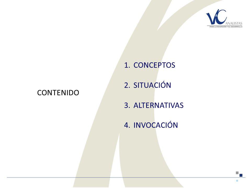 1.CONCEPTOS 2.SITUACIÓN 3.ALTERNATIVAS 4.INVOCACIÓN 2009 CONTENIDO