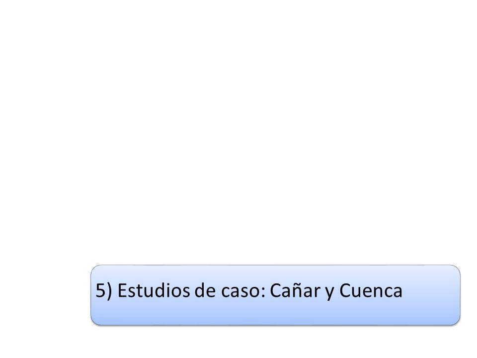 5) Estudios de caso: Cañar y Cuenca