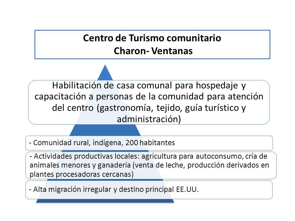 Habilitación de casa comunal para hospedaje y capacitación a personas de la comunidad para atención del centro (gastronomía, tejido, guía turístico y