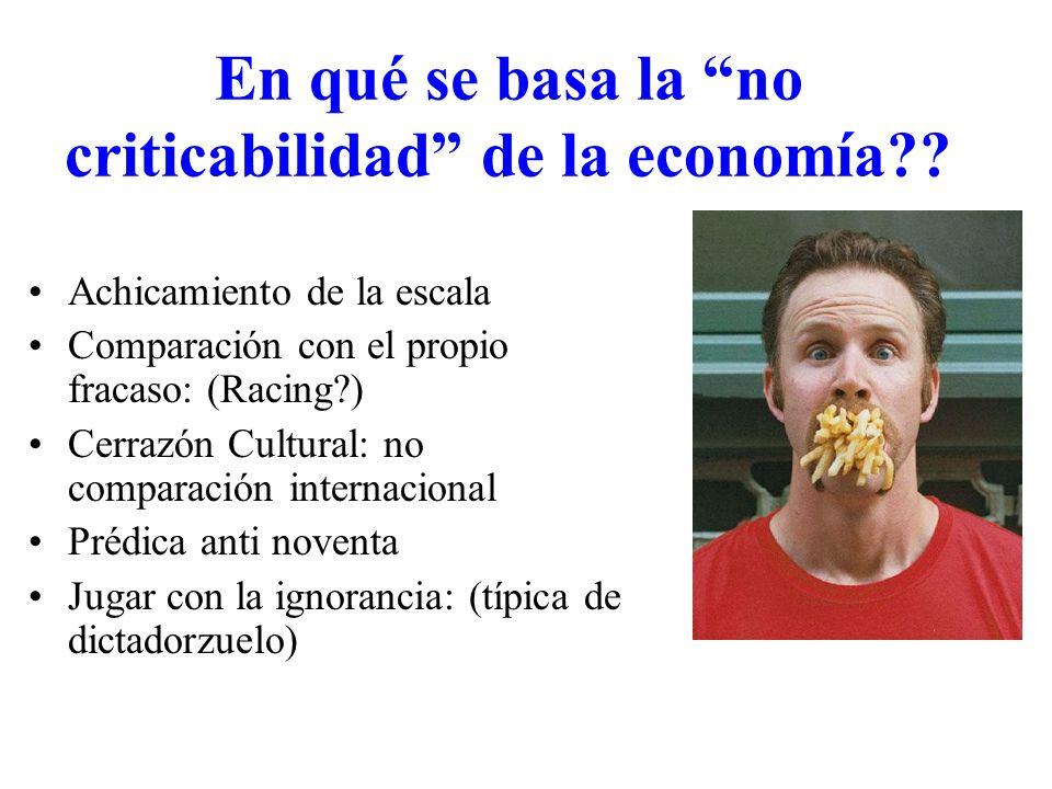 En qué se basa la no criticabilidad de la economía .