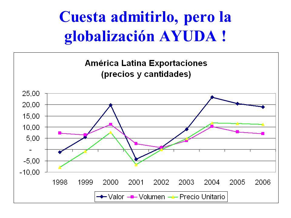 Cuesta admitirlo, pero la globalización AYUDA !