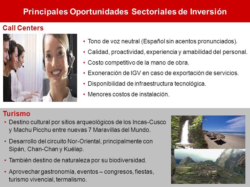 Principales Oportunidades Sectoriales de Inversión Destino cultural por sitios arqueológicos de los Incas-Cusco y Machu Picchu entre nuevas 7 Maravill