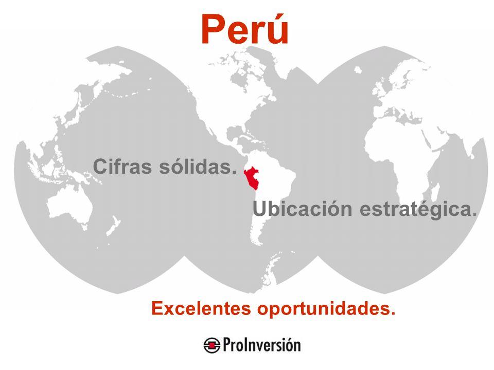 Cifras sólidas. Ubicación estratégica. Perú Excelentes oportunidades.