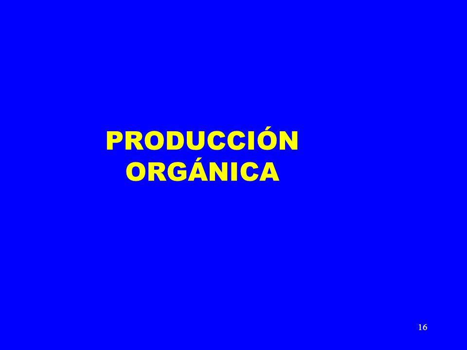 16 PRODUCCIÓN ORGÁNICA