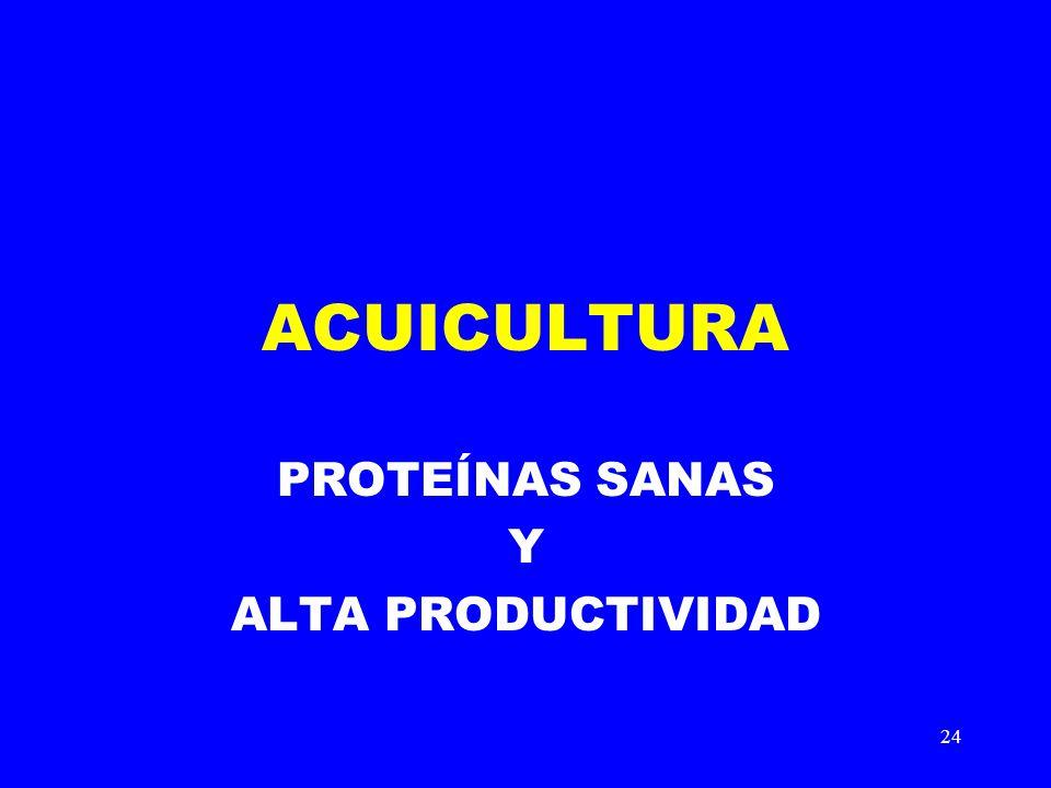 24 ACUICULTURA PROTEÍNAS SANAS Y ALTA PRODUCTIVIDAD