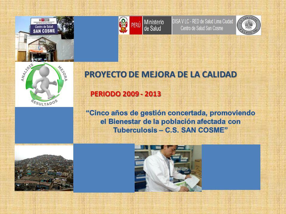 PROYECTO DE MEJORA DE LA CALIDAD PERIODO 2009 - 2013