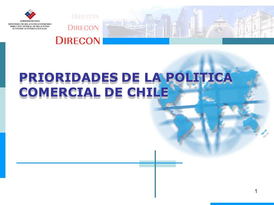 1 PRIORIDADES DE LA POLITICA COMERCIAL DE CHILE