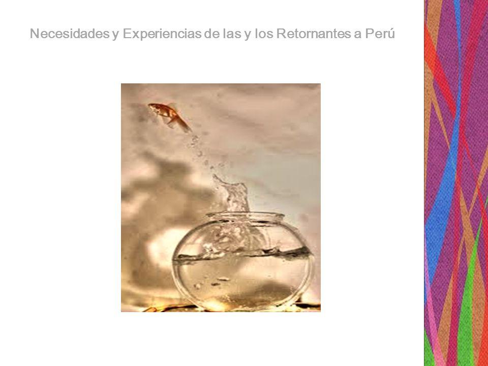 Bibliografía: -Informe Alternativo al séptimo y octavo Informe Combinado del Estado Peruano al Comité de la CEDAW- Flora Tristán- Lima, Diciembre del 2011 -Propuesta de proyecto de Ley de reinserción Económica y social para el Retorno de Migrantes Peruanos.