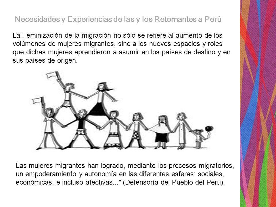 Necesidades y Experiencias de las y los Retornantes a Perú Y con el empoderamiento, viene la toma del espacio público, con el apoyo sororo a diferentes causas sociales….