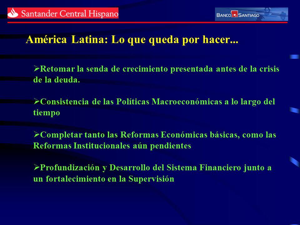 América Latina: Lo que queda por hacer... Retomar la senda de crecimiento presentada antes de la crisis de la deuda. Consistencia de las Políticas Mac