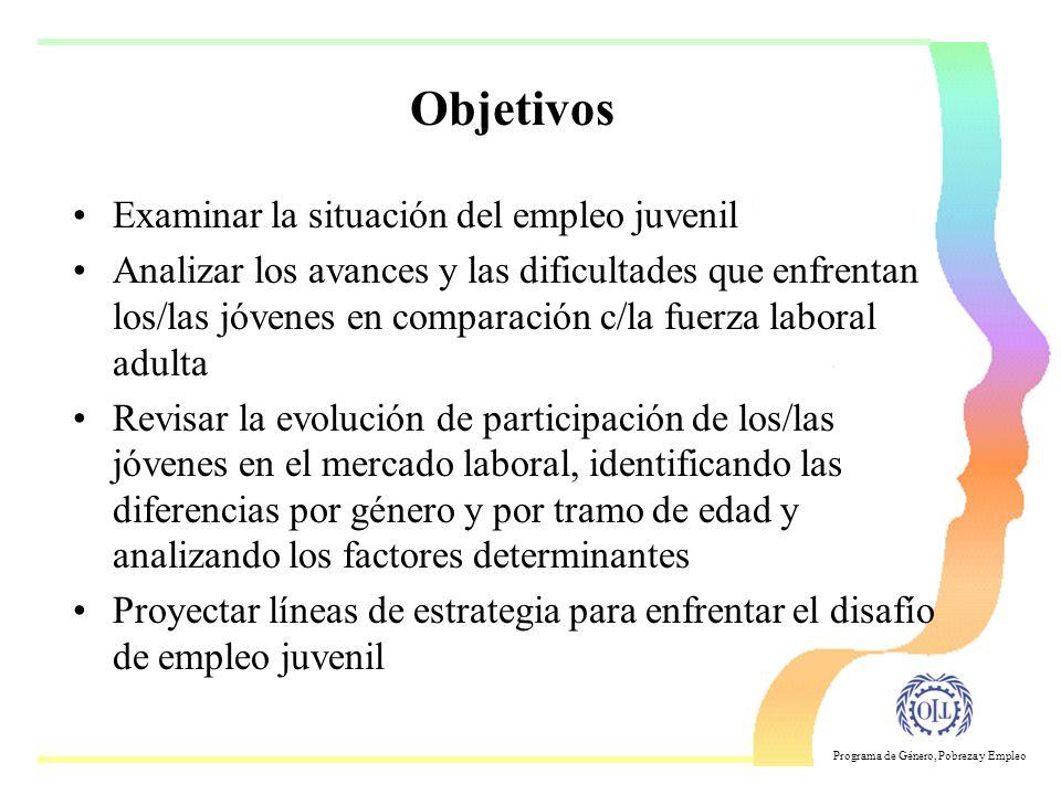 Programa de Género, Pobreza y Empleo Empleo Juvenil un desafio de la política social y económica Takako Mochizuki OIT Santiago Seminario-Taller Buenos