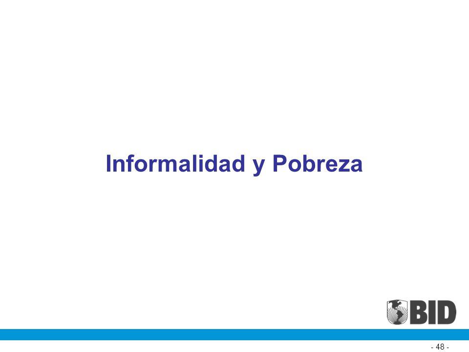 Informalidad y Pobreza - 48 -
