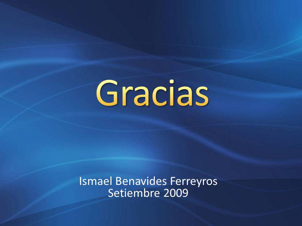 Ismael Benavides Ferreyros Setiembre 2009