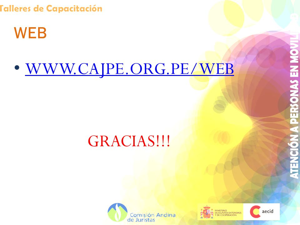 WEB WWW.CAJPE.ORG.PE/WEB GRACIAS!!!