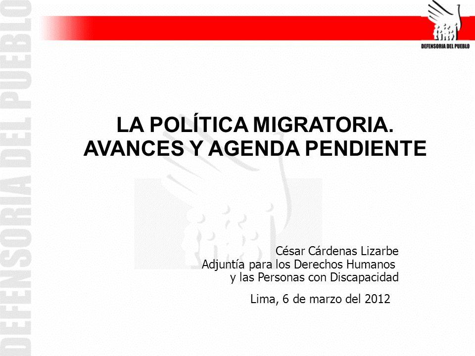 LA POLÍTICA MIGRATORIA.