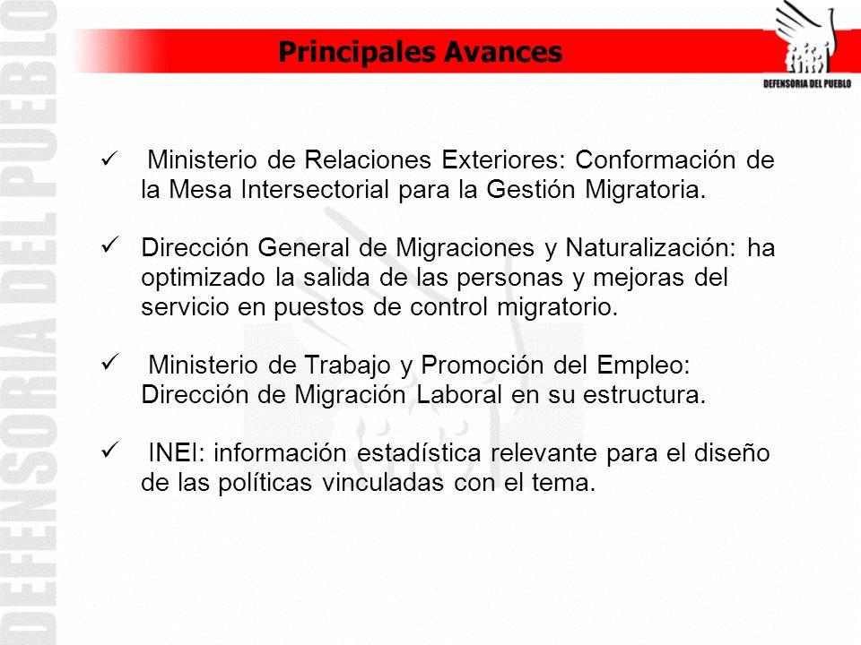 Ministerio de Relaciones Exteriores: Conformación de la Mesa Intersectorial para la Gestión Migratoria.