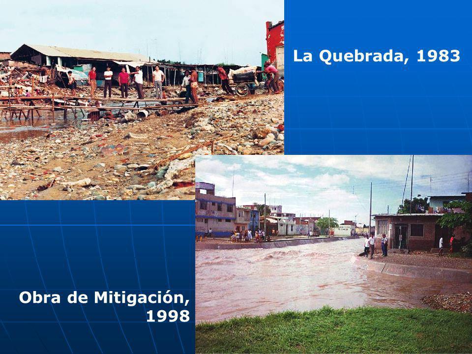 La Quebrada, 1983 Obra de Mitigación, 1998