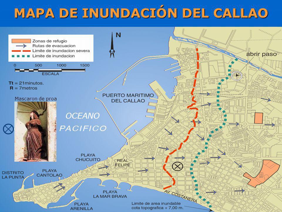 MAPA DE INUNDACIÓN DEL CALLAO OCEANO Mascaron de proa