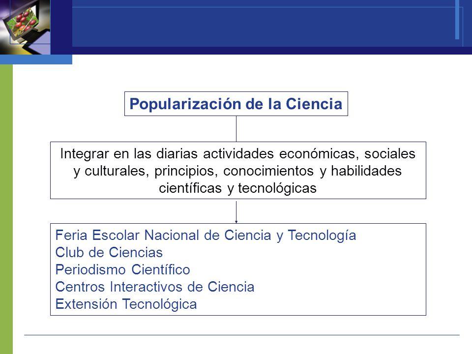 Respaldar y apoyar a las mujeres que hacen ciencia en el Perú y fomentar las vocaciones científicas en nuestro país Mujer en la Ciencia Programa creado a nivel internacional por la empresa L oréal, auspiciado por la UNESCO y en su versión nacional realizado por CONCYTEC Premio Por la mujer en la Ciencia