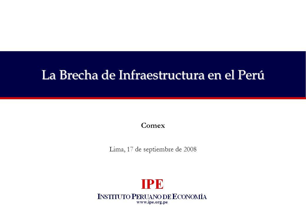 www.ipe.org.pe La Brecha de Infraestructura en el Perú Comex Lima, 17 de septiembre de 2008