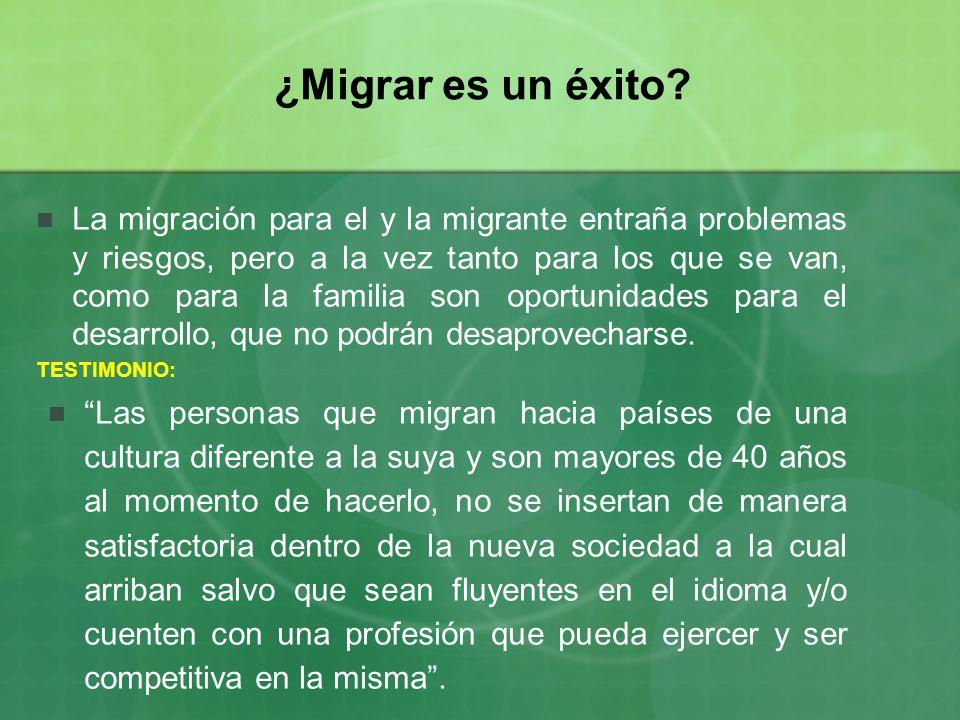 ¿Migrar es un éxito.