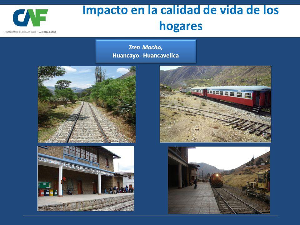 Tren Macho, Huancayo -Huancavelica Impacto en la calidad de vida de los hogares