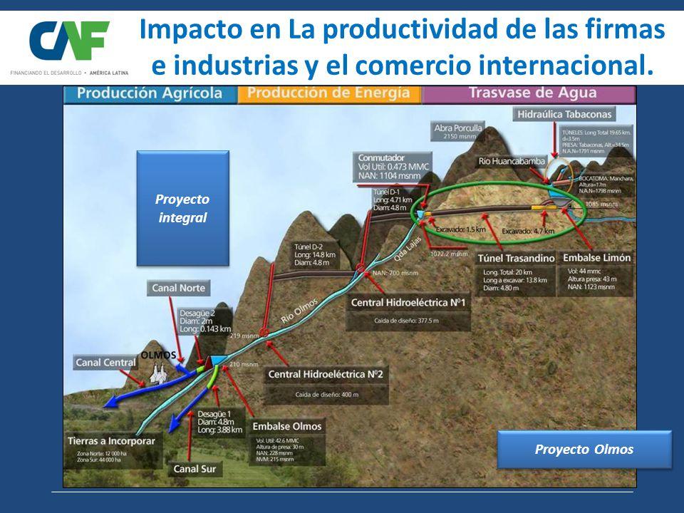 Proyecto Olmos Impacto en La productividad de las firmas e industrias y el comercio internacional.