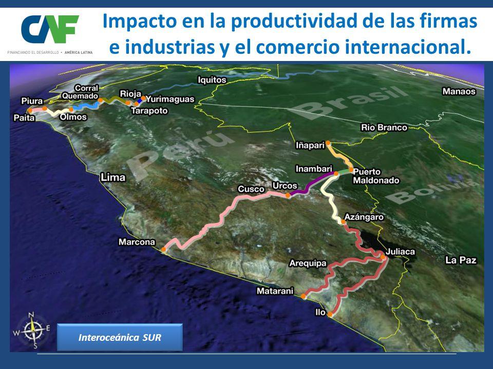 Interoceánica Sur: Perú-Brasil Impacto en la productividad de las firmas e industrias y el comercio internacional.