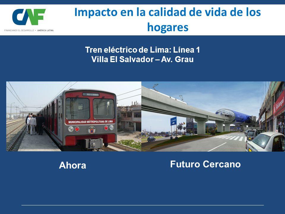 Impacto en la calidad de vida de los hogares Tren eléctrico de Lima: Línea 1 Villa El Salvador – Av.