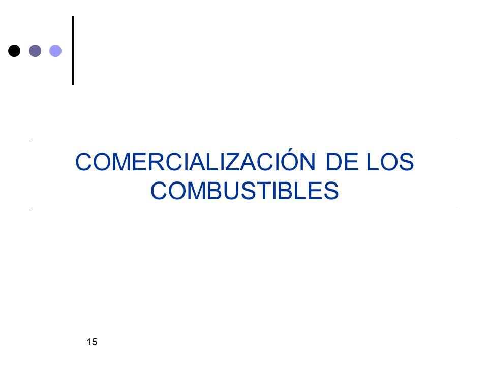 15 COMERCIALIZACIÓN DE LOS COMBUSTIBLES