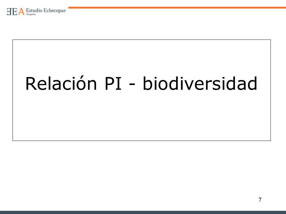 7 Relación PI - biodiversidad