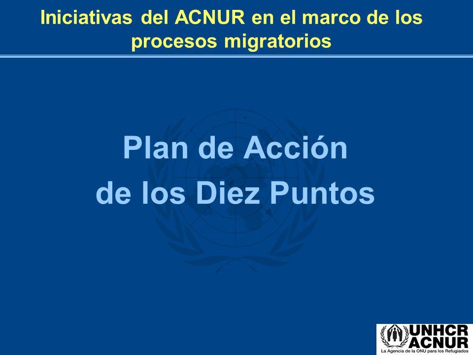 Iniciativas del ACNUR en el marco de los procesos migratorios Plan de Acción de los Diez Puntos