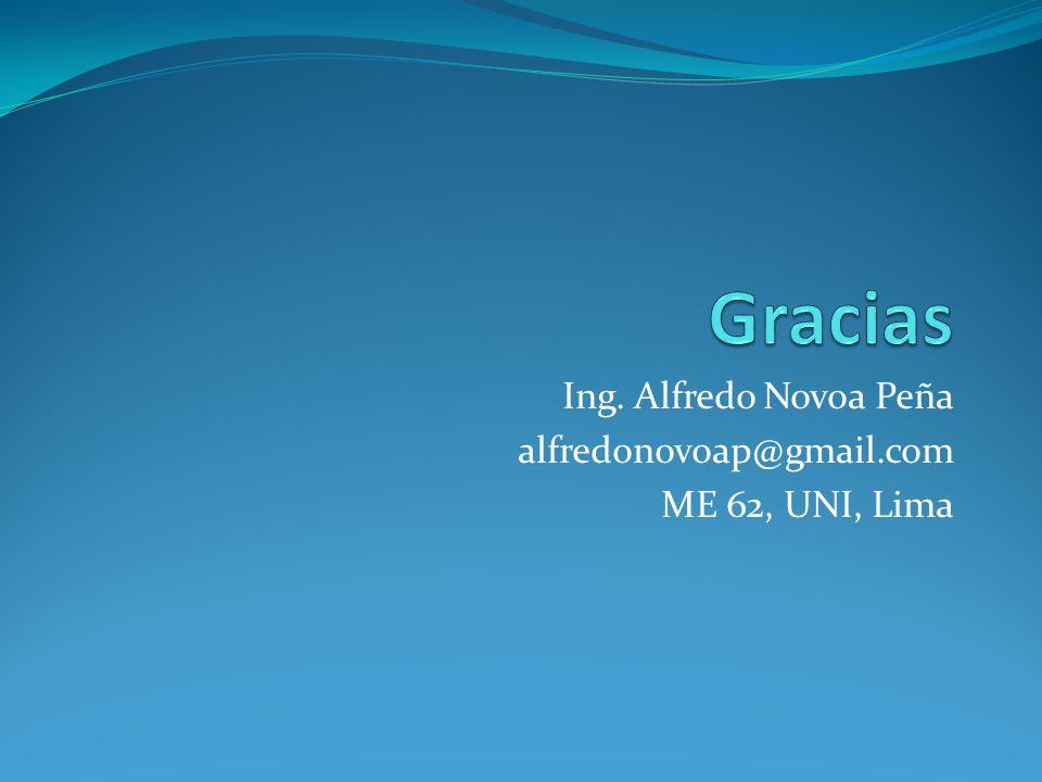 Ing. Alfredo Novoa Peña alfredonovoap@gmail.com ME 62, UNI, Lima