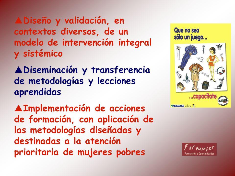 Diseño y validación, en contextos diversos, de un modelo de intervención integral y sistémico Diseminación y transferencia de metodologías y lecciones