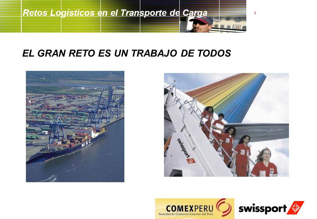 6 Retos Logísticos en el Transporte de Carga EL GRAN RETO ES UN TRABAJO DE TODOS
