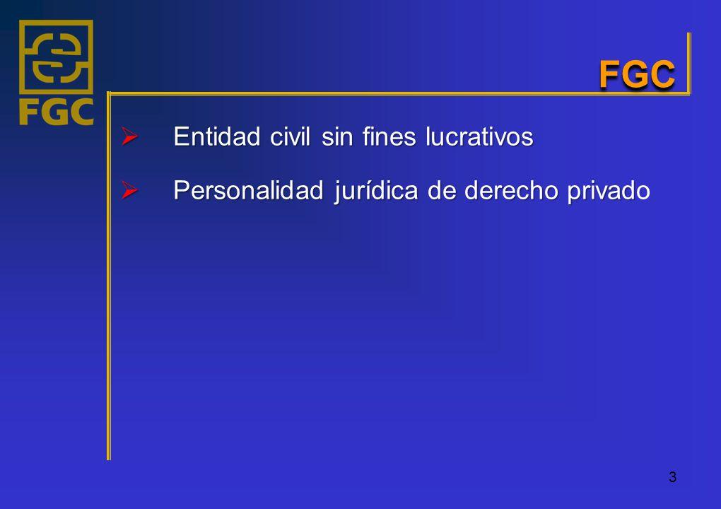 FGC Entidad civil sin fines lucrativos Entidad civil sin fines lucrativos Personalidad jurídica de derecho privad Personalidad jurídica de derecho privado 3