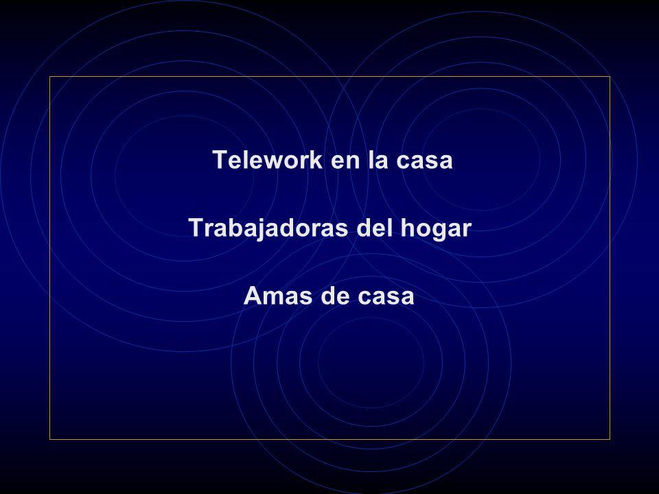Telework en la casa Trabajadoras del hogar Amas de casa