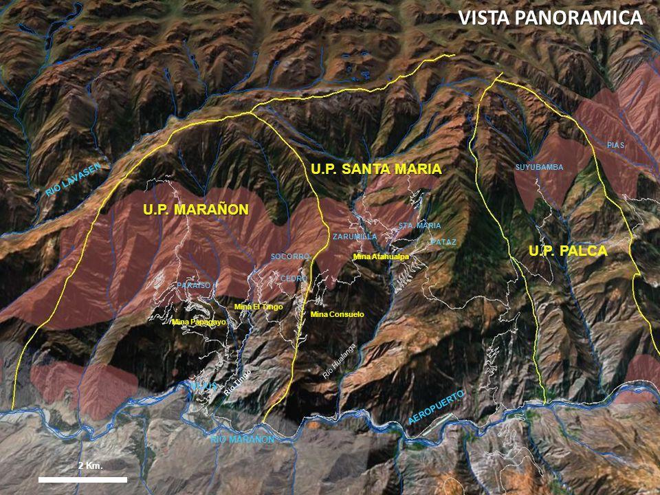 4 Mina Consuelo Mina Atahualpa Río Tingo Mina Papagayo Mina El Tingo Río Hualanga 2 Km. VIJUS STA. MARIA ZARUMILLA SOCORRO CEDRO PARAISO SUYUBAMBA PIA