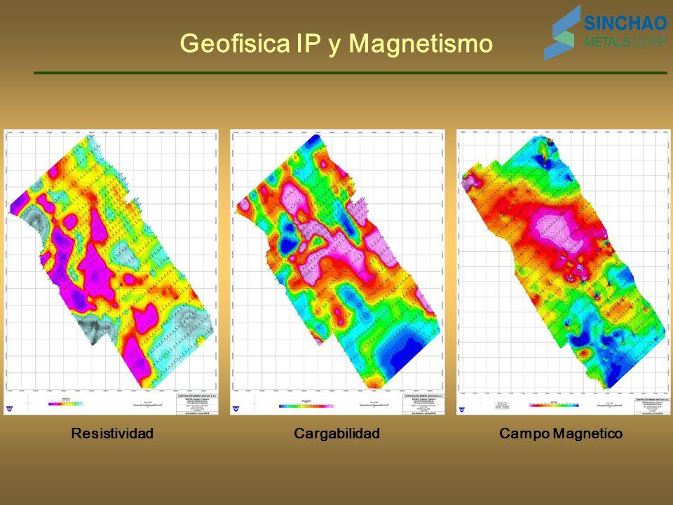 Geofisica IP y Magnetismo ResistividadCampo MagneticoCargabilidad