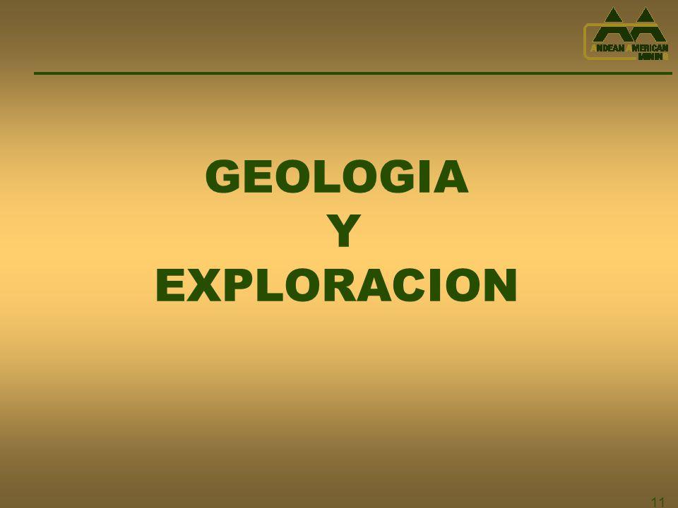 11 GEOLOGIA Y EXPLORACION