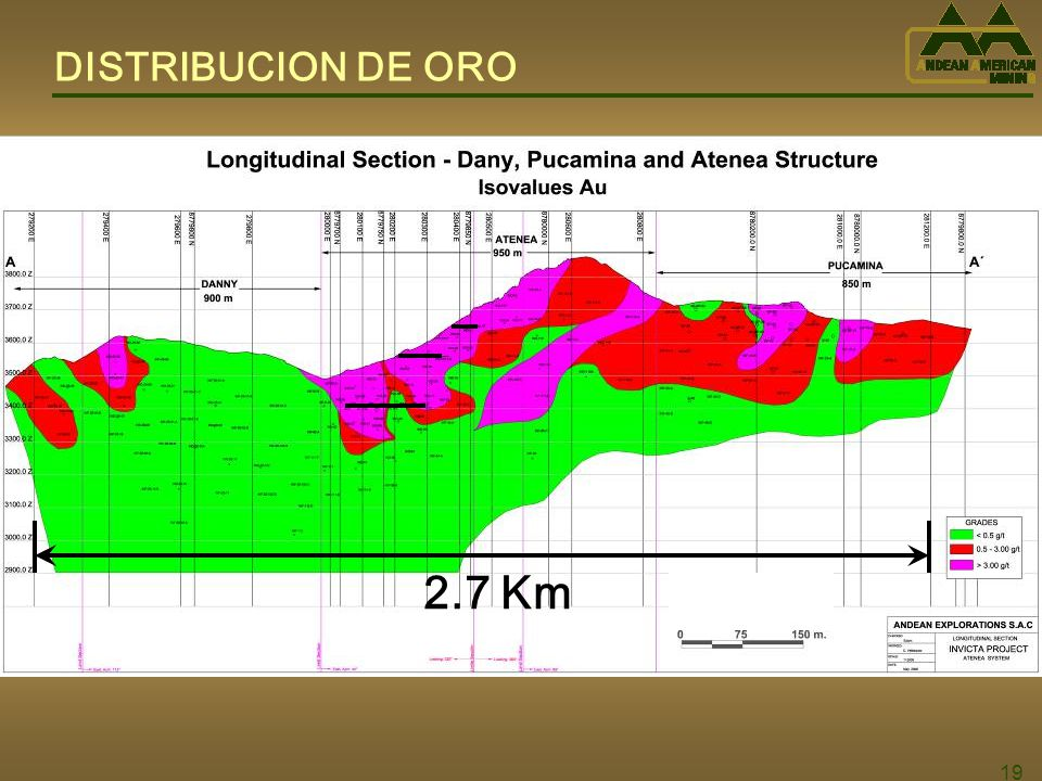 19 DISTRIBUCION DE ORO 2.7 Km