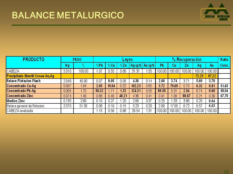 28 BALANCE METALURGICO