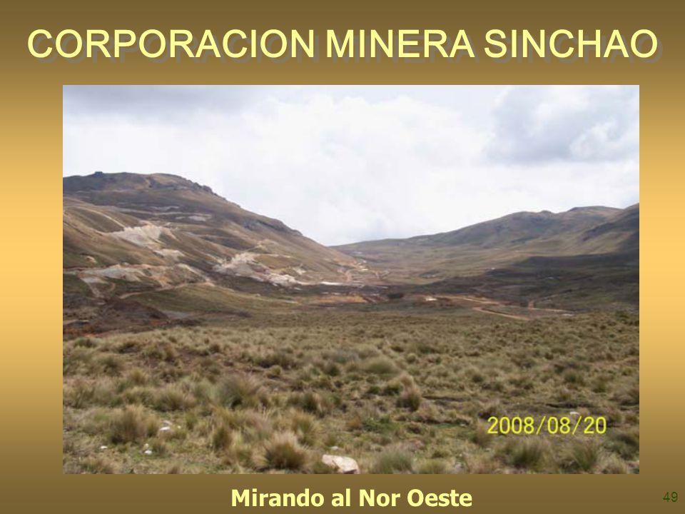 49 CORPORACION MINERA SINCHAO Mirando al Nor Oeste