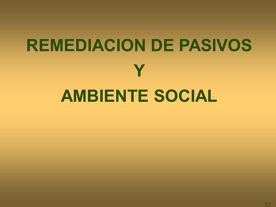 51 REMEDIACION DE PASIVOS Y AMBIENTE SOCIAL