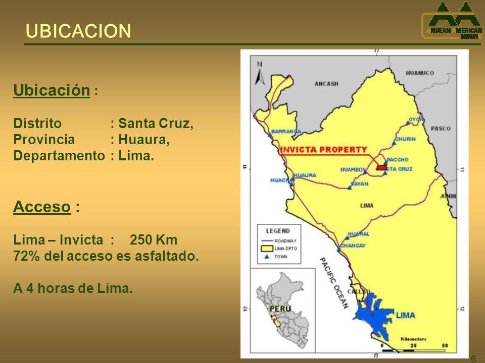 37 INFRAESTRUCTURA Valle del Rio Huaura (1,000 m.s.n.m.) Cierre Natural Area para Planta (2,300 m.s.n.m.) Cuenca para Disposición de Relaves Secos Area Mina (3,400 m.s.n.m.)
